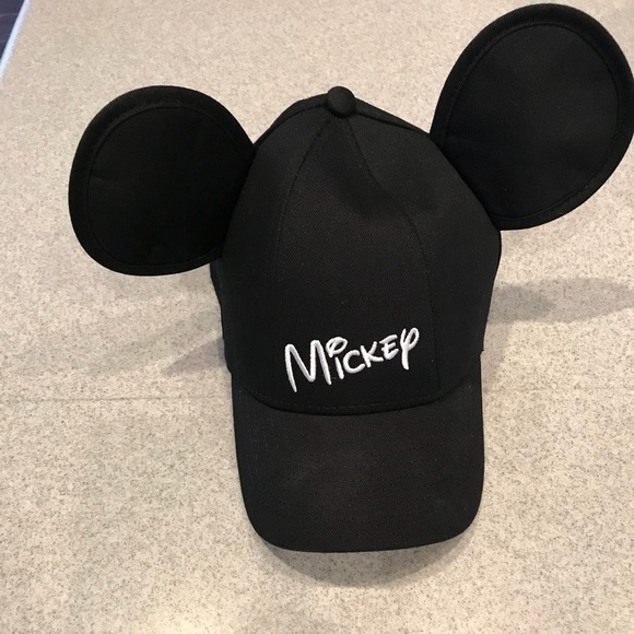 a624c6967b7 Disney Accessories - Disney Mickey Ears SnapBack hat with white Mickey